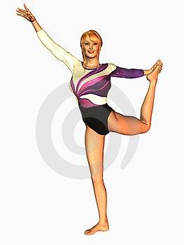 Gymnast Pose Royalty Free Stock Photos - Image: 14035968
