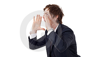 Businessman Shouting Royalty Free Stock Photos - Image: 14036598