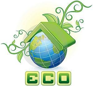 Принципиальная схема Eco Стоковое Фото