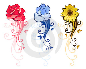 Floral Design Elements Royalty Free Stock Photos - Image: 14037418