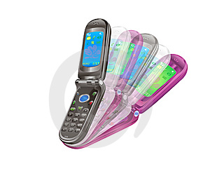 Mobile Phone Features Royalty Free Stock Image - Image: 14041036