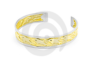 Silver And Gold Dolphin Bracelet Stock Photo - Image: 14041040