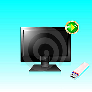 Monitor For Computer Royalty Free Stock Photography - Image: 14041187