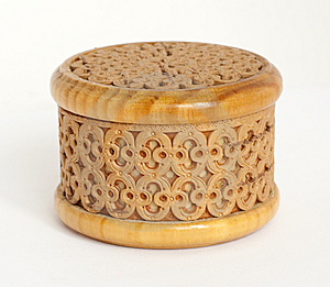 Carved Box Made Of Birch Bark Royalty Free Stock Images - Image: 14041409