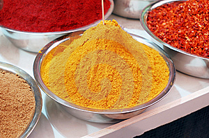 Colorful Spices In Bowl Royalty Free Stock Photography - Image: 14041627