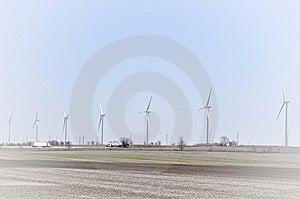 Line Of Turbines Background Stock Photo - Image: 14043770