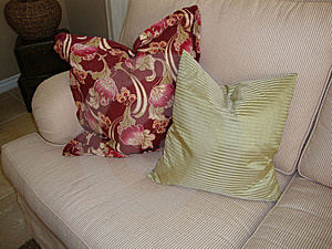 Pillows On A Couch/Sofa Stock Images - Image: 14043844