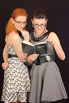 Two Girls In Dresses Stock Photo - Image: 14044330
