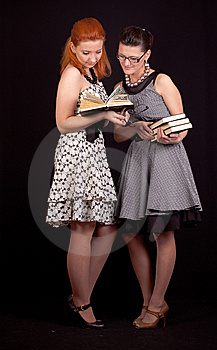 Two Girls In Dresses Stock Image - Image: 14044471