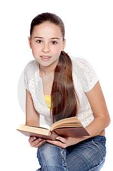 Girl Reading Book Stock Image - Image: 14044891