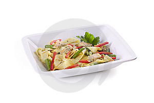 Pasta With Salmon Royalty Free Stock Photography - Image: 14045067