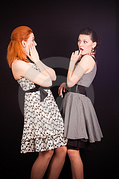 Two Girls In Dresses Stock Photography - Image: 14045182