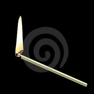 Burning Matchstick Stock Image - Image: 14045221