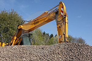 Digger At Work Royalty Free Stock Images - Image: 14045329