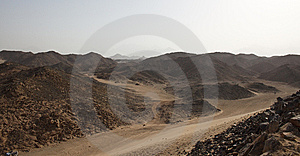 Desert With Stones Royalty Free Stock Photo - Image: 14045385