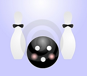 Ball And Pin For Bowling Stock Images - Image: 14045424