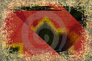Abstract Red Looking Old Stock Image - Image: 14045681