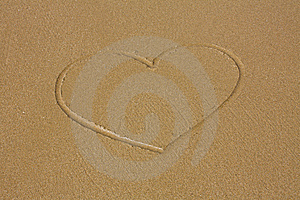 Heart On Sand Stock Image - Image: 14046001