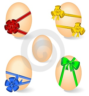 Set By Easter Eggs Stock Photos - Image: 14046793