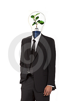 Green energy symbol Stock Image