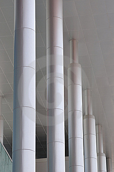 Pole As Line Of Modern Building Stock Images - Image: 14048404
