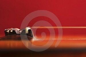 Guitar Bridge And Strings Stock Images - Image: 14049064