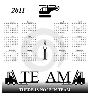 2011 Calendar Stock Photo - Image: 14050830