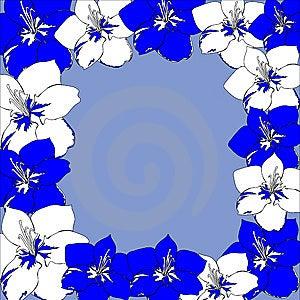 Bright Dark Blue Flowers Royalty Free Stock Image - Image: 14053226