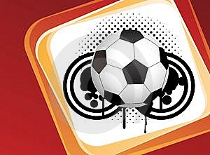 Abstract Football Art Creative Design Royalty Free Stock Images - Image: 14054379
