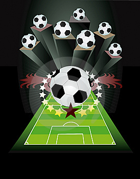 Abstract Soccer Background. Royalty Free Stock Photo - Image: 14055555