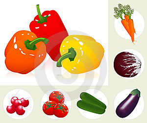 Vegetable Set Stock Images - Image: 14057234