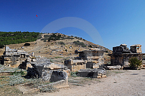 View Of Ruins Of Ancient Hierapolis Royalty Free Stock Photo - Image: 14061345