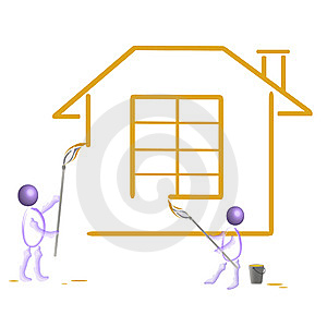 Drawing Of Home. Royalty Free Stock Photo - Image: 14061815