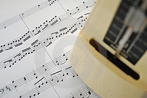 Music Score And Metronome Royalty Free Stock Images - Image: 14064369