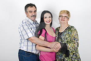 Happy Family Embracing Royalty Free Stock Photos - Image: 14064408