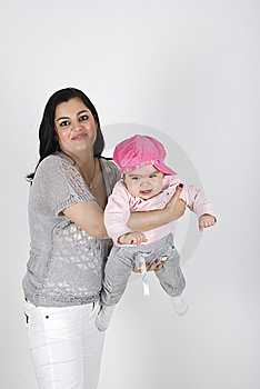 Mother Playing With Her Little Baby Child Royalty Free Stock Photo - Image: 14064745