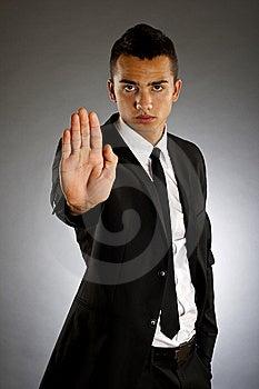 Man Making Stop Royalty Free Stock Photos - Image: 14064938