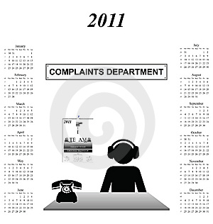 2011 Calendar Royalty Free Stock Image - Image: 14065566
