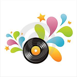 Colorful Vinyl Record Background Royalty Free Stock Photography - Image: 14065917