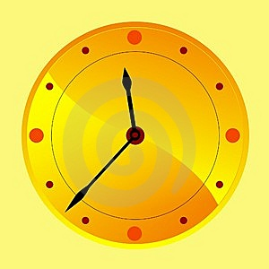 Golden Clock Royalty Free Stock Photography - Image: 14067157