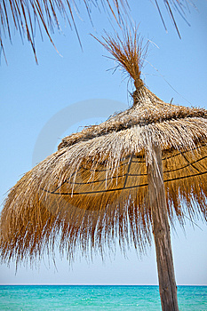 Sunshades On The Beach Royalty Free Stock Photos - Image: 14068558