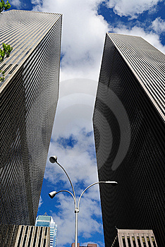In Between Skyscrapers Royalty Free Stock Photo - Image: 14069255