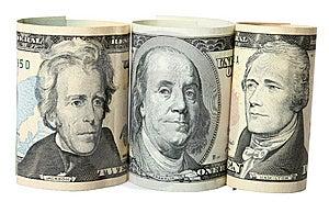 The Dollar Banknotes Royalty Free Stock Image - Image: 14071476