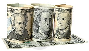 The Dollar Banknotes Royalty Free Stock Photos - Image: 14071528