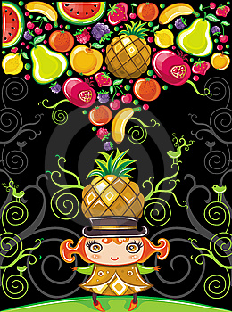 Pineapple Girl (fruity Series) Royalty Free Stock Photos - Image: 14074898