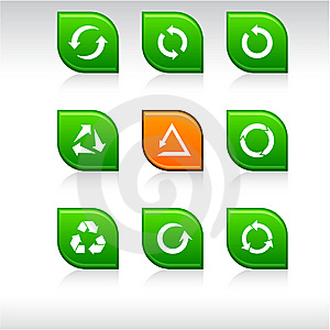 Arrows Icons. Stock Photos - Image: 14075493
