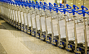 Airport Luggage Trolley Royalty Free Stock Image - Image: 14075936