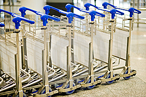 Airport Luggage Trolley Stock Images - Image: 14075964