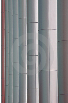 Line Of Pole Of Modern Building Royalty Free Stock Images - Image: 14076449