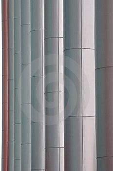 Zeile Des Pols Des Modernen Gebäudes Lizenzfreie Stockbilder - Bild: 14076449